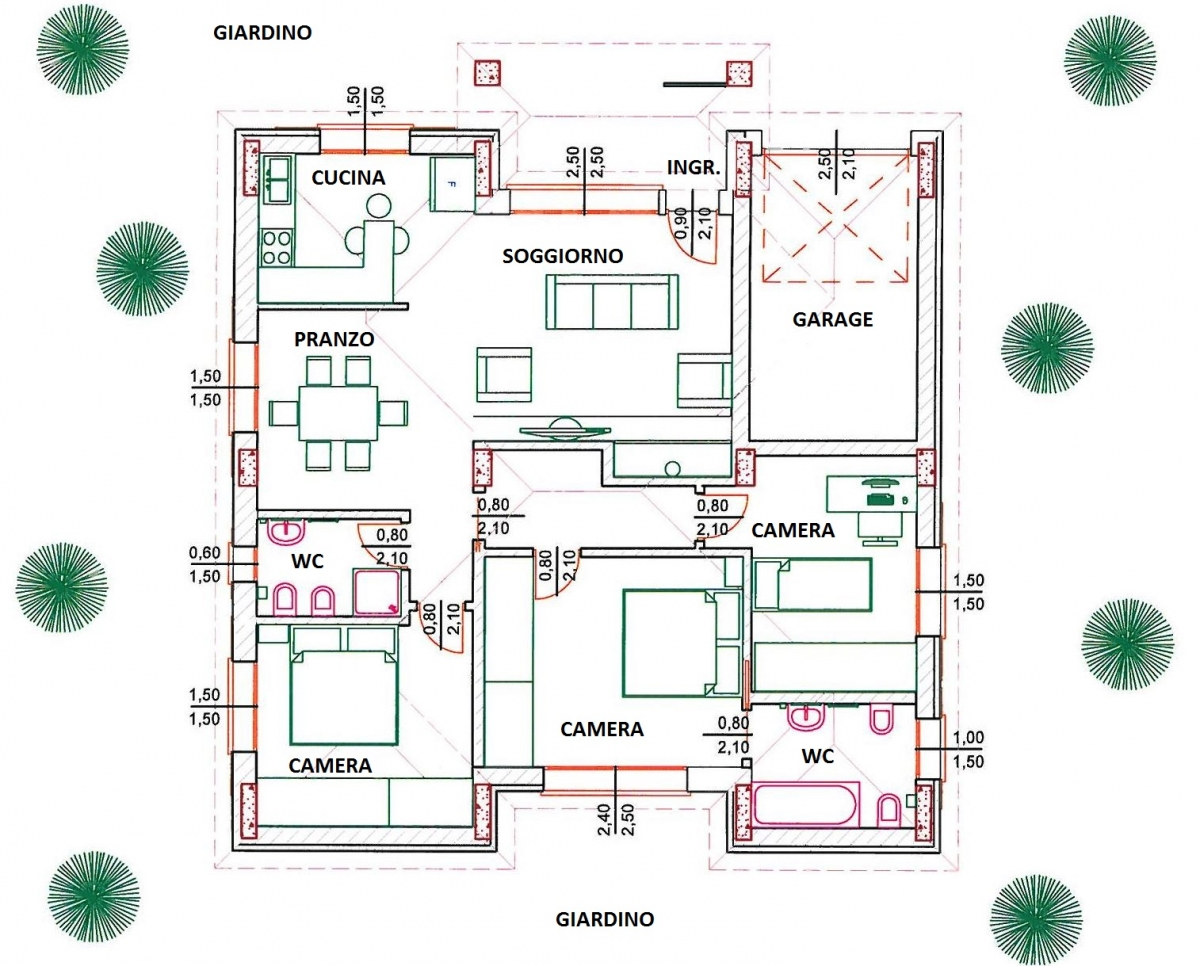 Beautiful cool dettaglio fcod with case progetti ville for Disegni case singole